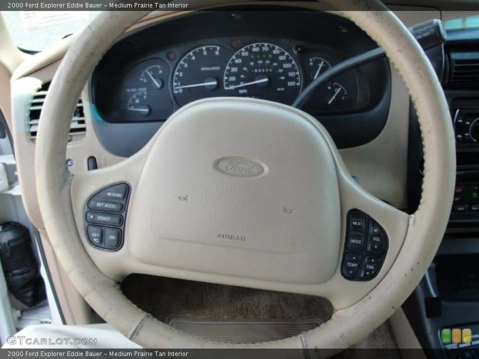 Medium Prairie Tan Interior Steering Wheel for the 2000 Ford Explorer Eddie Bauer #48493627