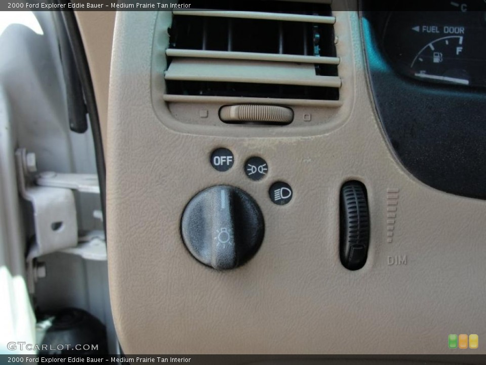 Medium Prairie Tan Interior Controls for the 2000 Ford Explorer Eddie Bauer #48493663