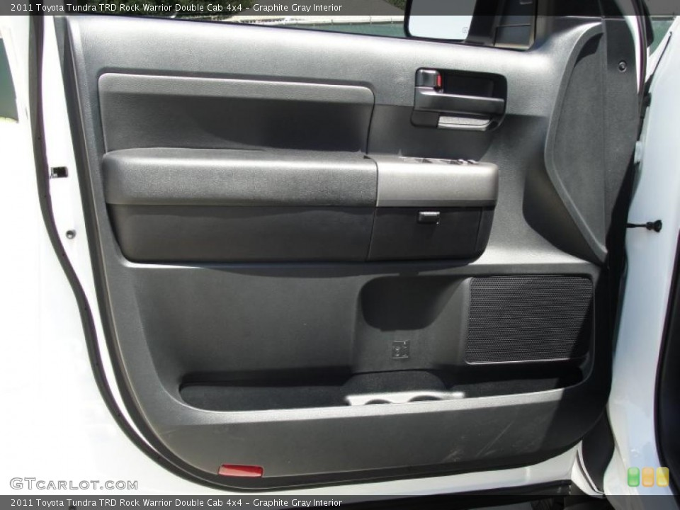 Graphite Gray Interior Door Panel for the 2011 Toyota Tundra TRD Rock Warrior Double Cab 4x4 #48533807