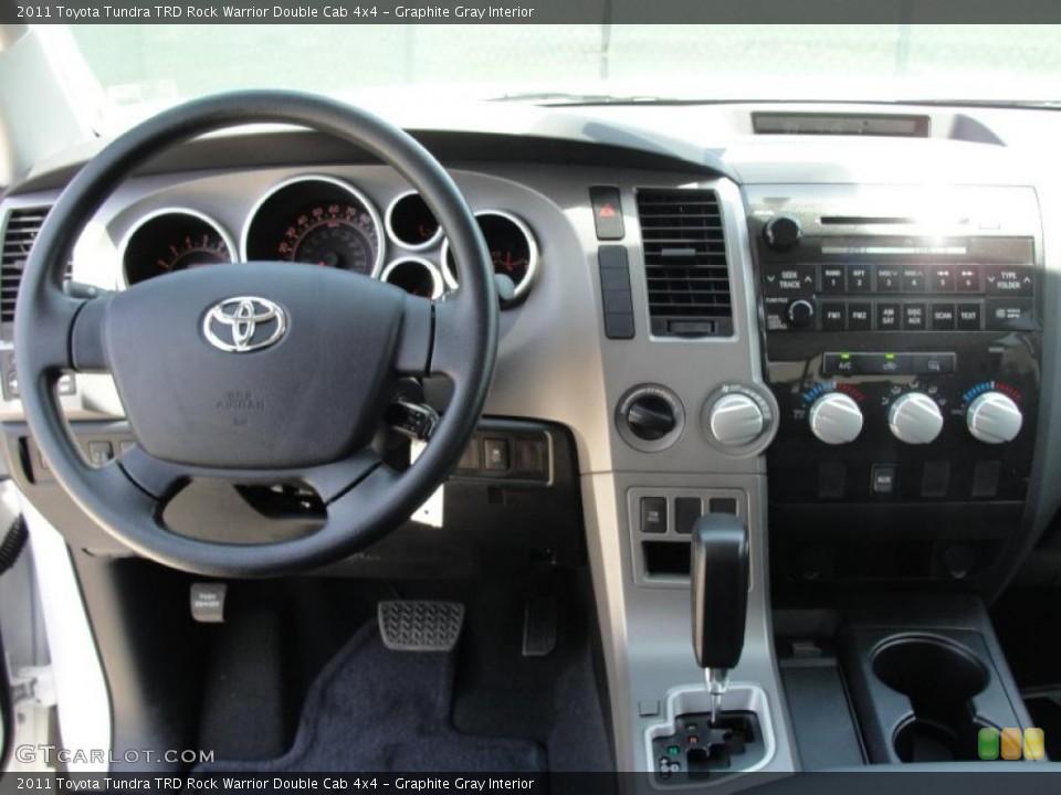 Graphite Gray Interior Dashboard for the 2011 Toyota Tundra TRD Rock Warrior Double Cab 4x4 #48533852