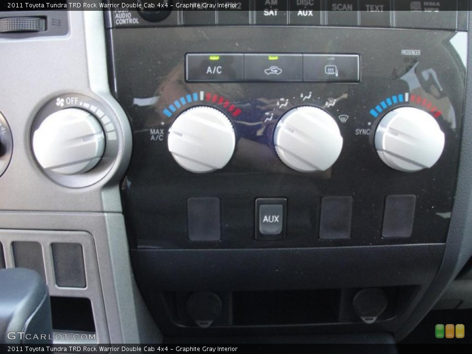 Graphite Gray Interior Controls for the 2011 Toyota Tundra TRD Rock Warrior Double Cab 4x4 #48533891