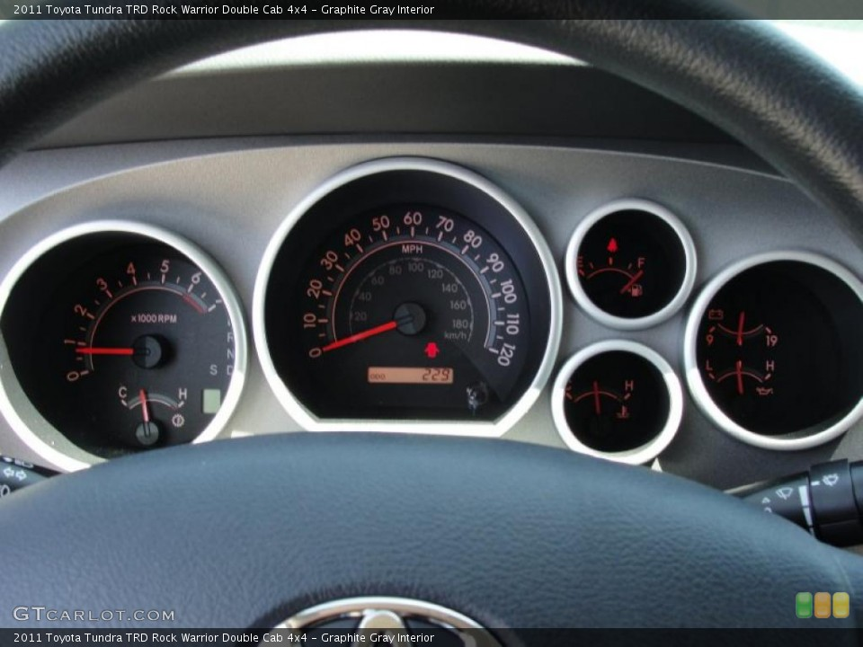 Graphite Gray Interior Gauges for the 2011 Toyota Tundra TRD Rock Warrior Double Cab 4x4 #48533942