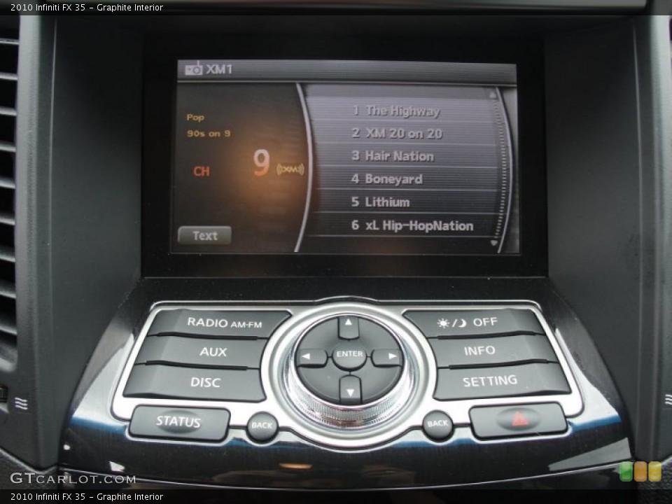 Graphite Interior Controls for the 2010 Infiniti FX 35 #48539366