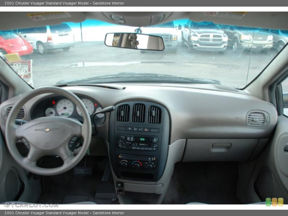 Sandstone Interior Dashboard for the 2001 Chrysler Voyager  #48664770