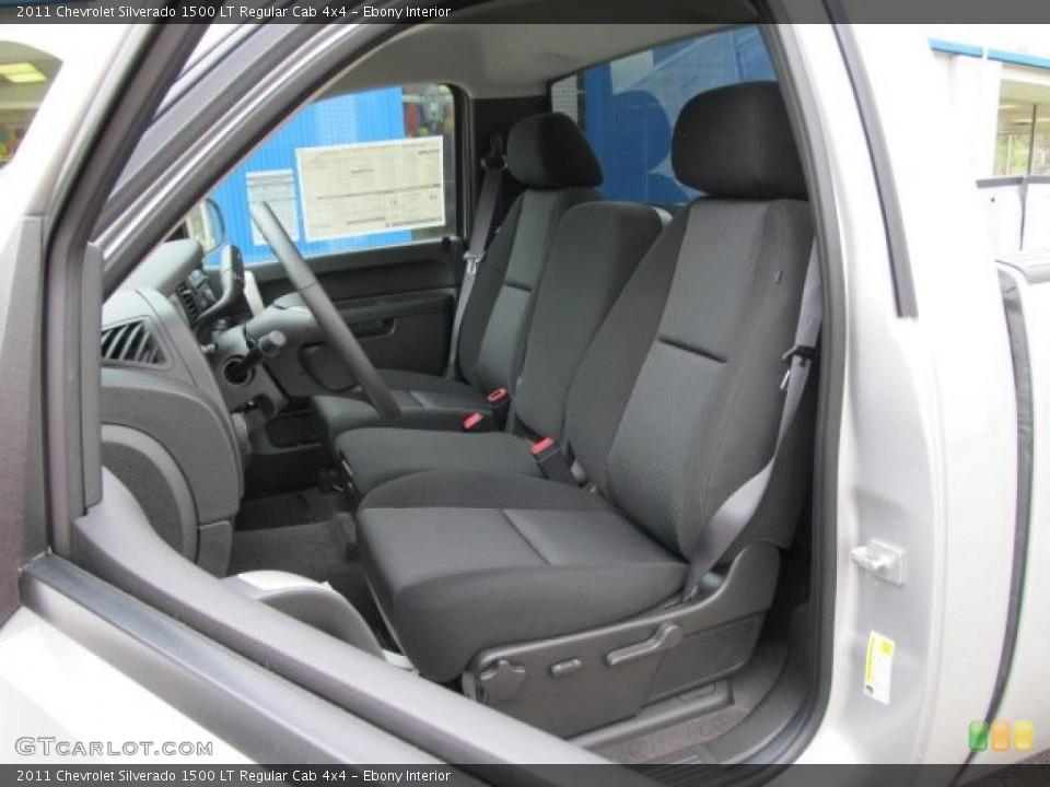 Ebony Interior Photo for the 2011 Chevrolet Silverado 1500 LT Regular Cab 4x4 #48685590