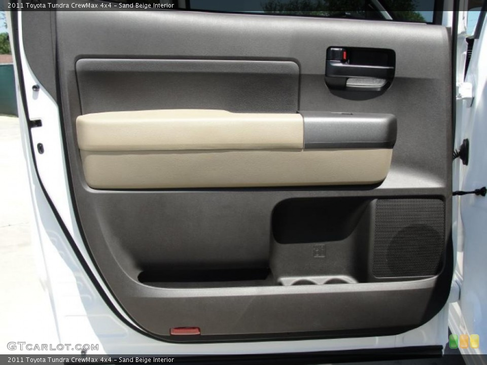 Sand Beige Interior Door Panel for the 2011 Toyota Tundra CrewMax 4x4 #48826612