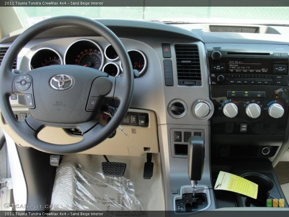Sand Beige Interior Dashboard for the 2011 Toyota Tundra CrewMax 4x4 #48826710