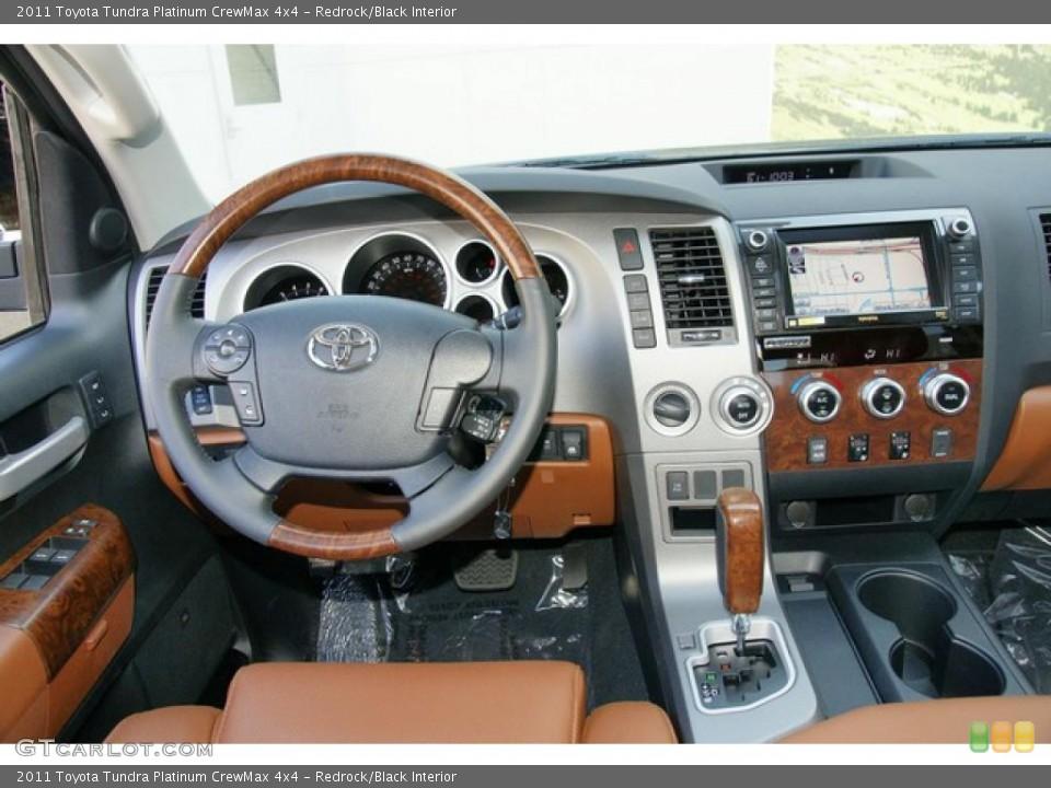 Redrock/Black Interior Dashboard for the 2011 Toyota Tundra Platinum CrewMax 4x4 #48880092