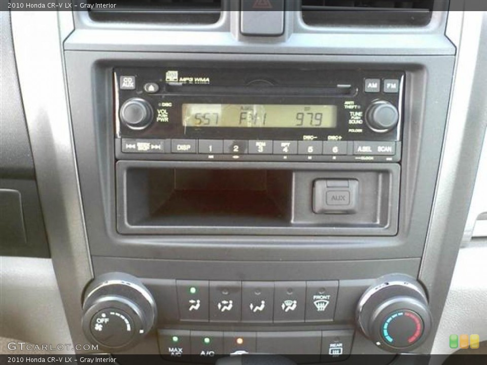 Gray Interior Controls for the 2010 Honda CR-V LX #48915603