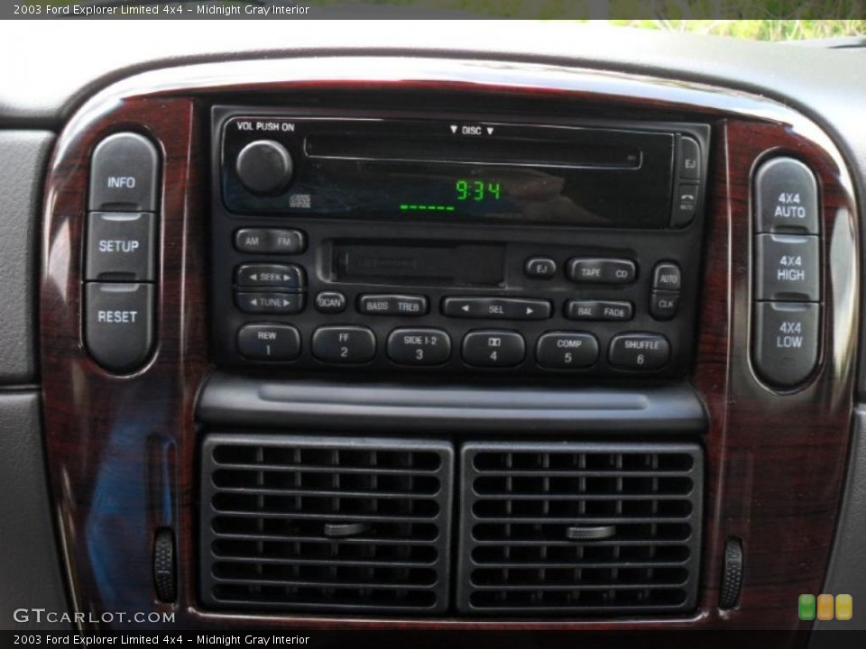 Midnight Gray Interior Controls for the 2003 Ford Explorer Limited 4x4 #49050129