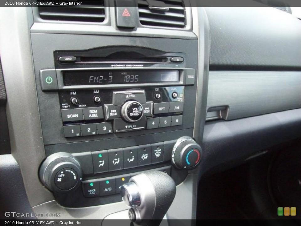 Gray Interior Controls for the 2010 Honda CR-V EX AWD #49055345