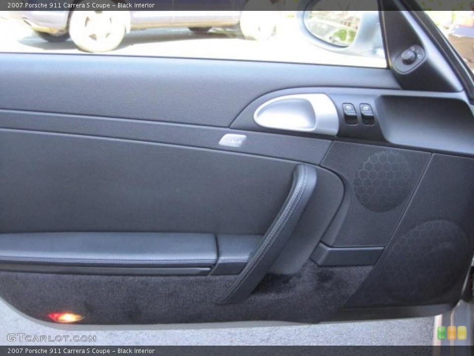 Black Interior Door Panel for the 2007 Porsche 911 Carrera S Coupe #49105844
