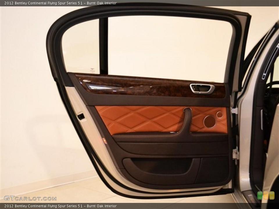 Burnt Oak Interior Door Panel For The 2012 Bentley Continental