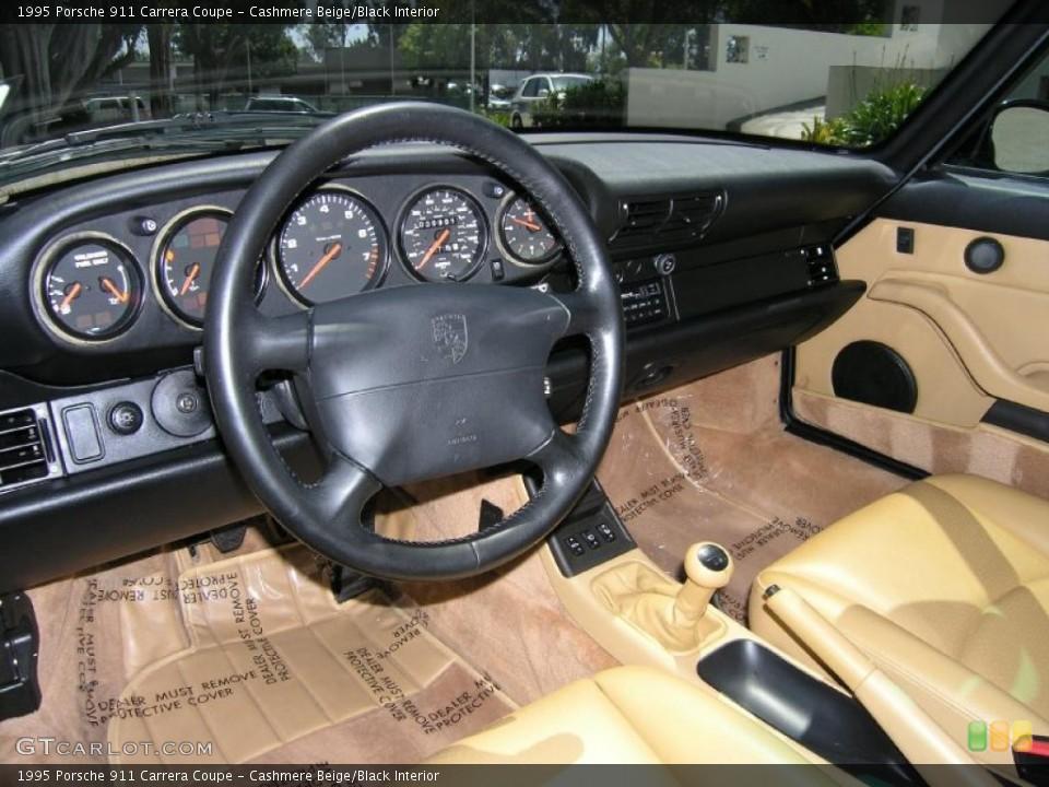Cashmere Beige/Black 1995 Porsche 911 Interiors