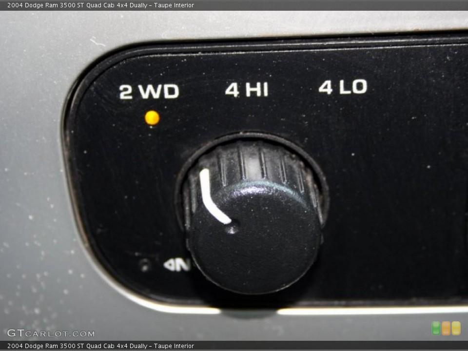Taupe Interior Controls for the 2004 Dodge Ram 3500 ST Quad Cab 4x4 Dually #49313556