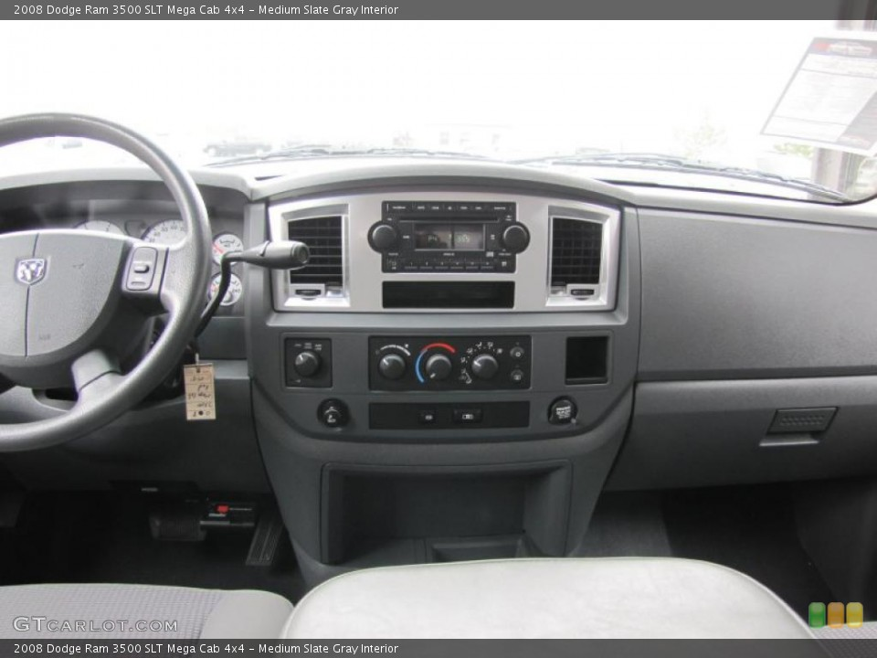 Medium Slate Gray Interior Dashboard for the 2008 Dodge Ram 3500 SLT Mega Cab 4x4 #49409115