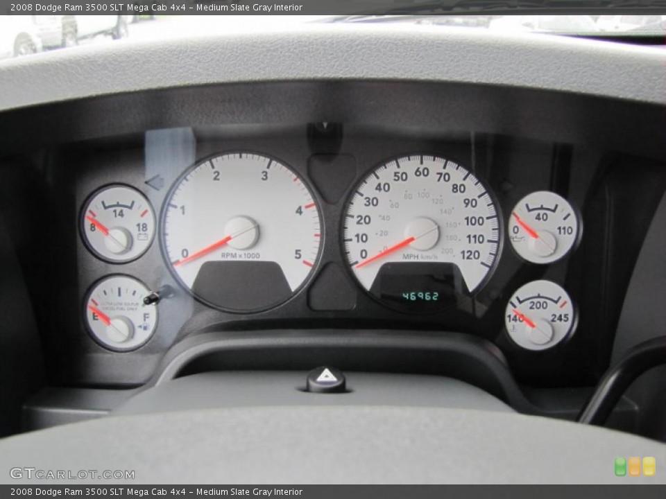 Medium Slate Gray Interior Gauges for the 2008 Dodge Ram 3500 SLT Mega Cab 4x4 #49409130