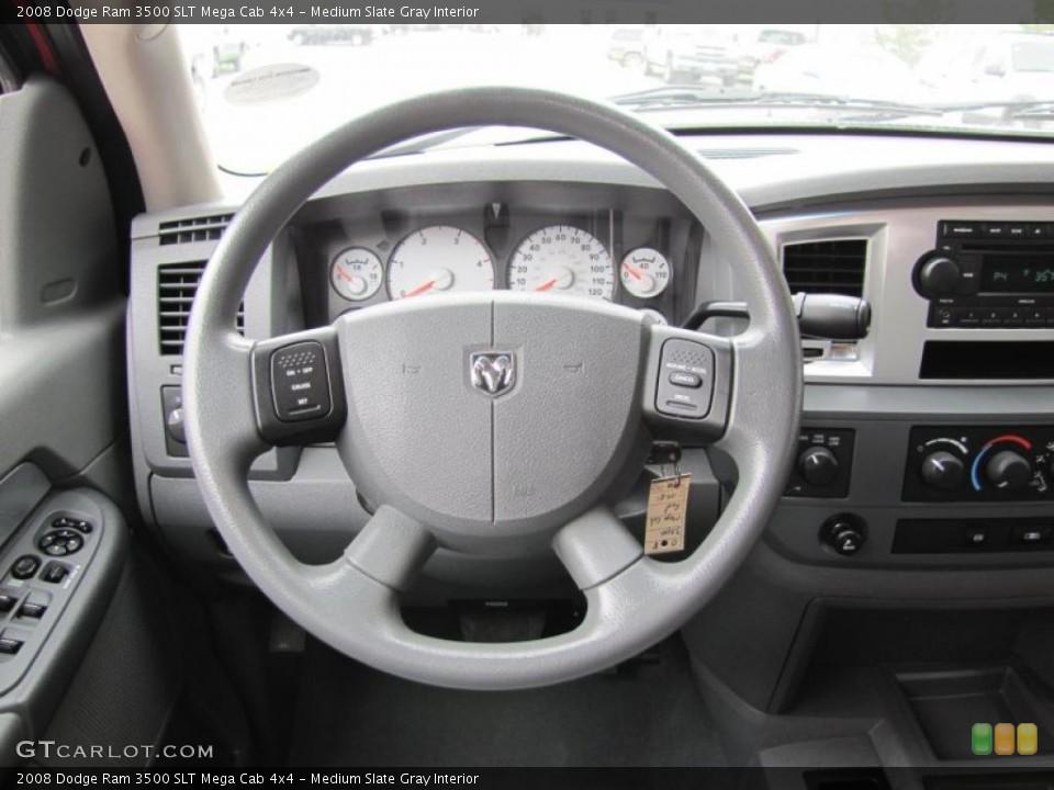 Medium Slate Gray Interior Steering Wheel for the 2008 Dodge Ram 3500 SLT Mega Cab 4x4 #49409157