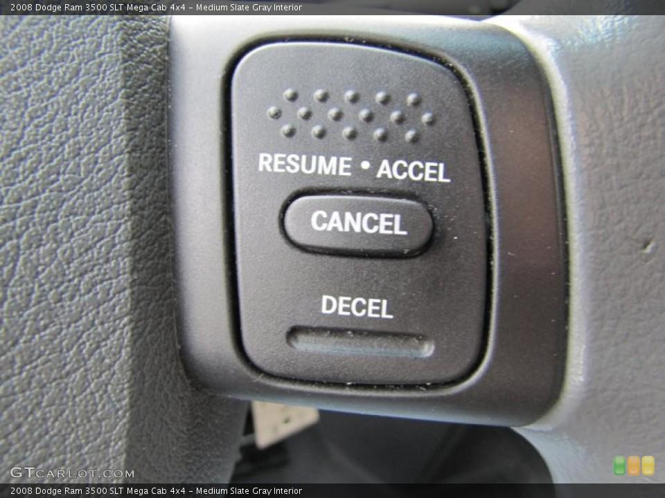 Medium Slate Gray Interior Controls for the 2008 Dodge Ram 3500 SLT Mega Cab 4x4 #49409190