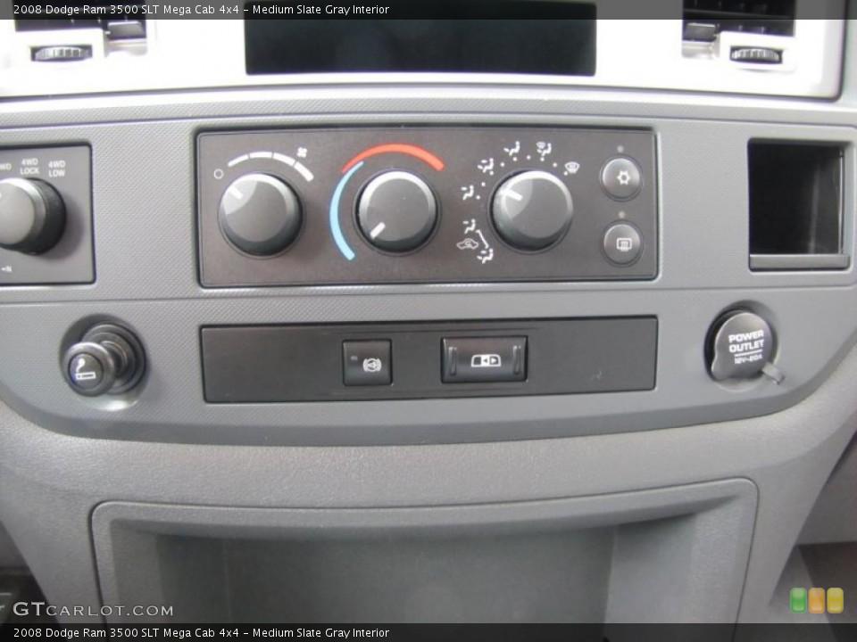 Medium Slate Gray Interior Controls for the 2008 Dodge Ram 3500 SLT Mega Cab 4x4 #49409280