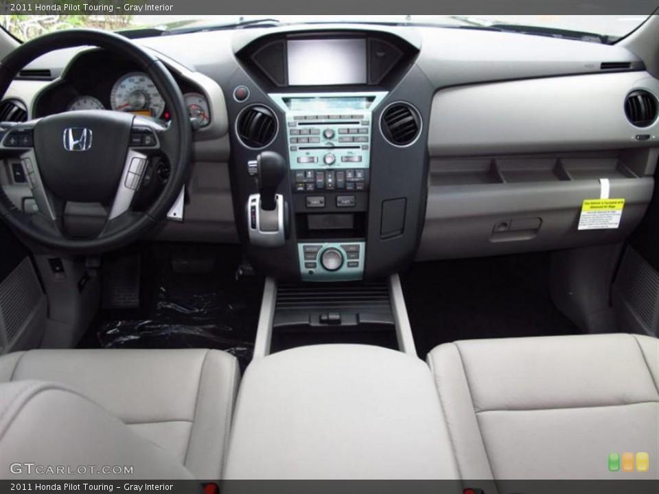 Gray Interior Dashboard for the 2011 Honda Pilot Touring #49452478