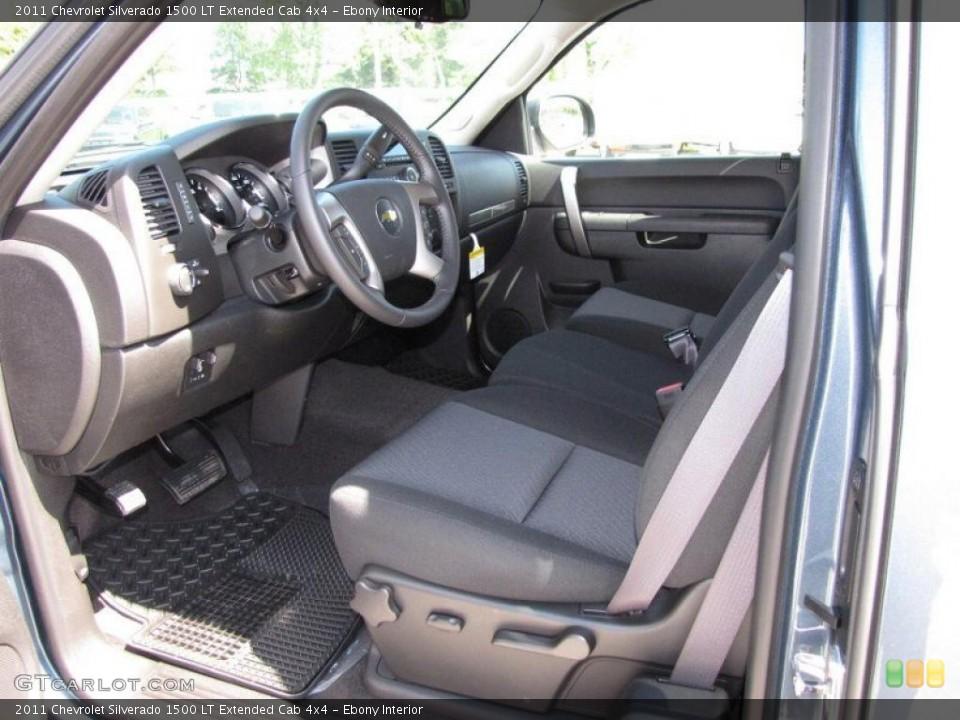 Ebony Interior Photo for the 2011 Chevrolet Silverado 1500 LT Extended Cab 4x4 #49653846