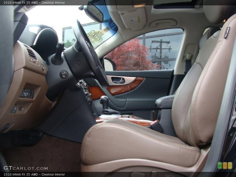 Chestnut Interior Photo for the 2010 Infiniti FX 35 AWD #49722889