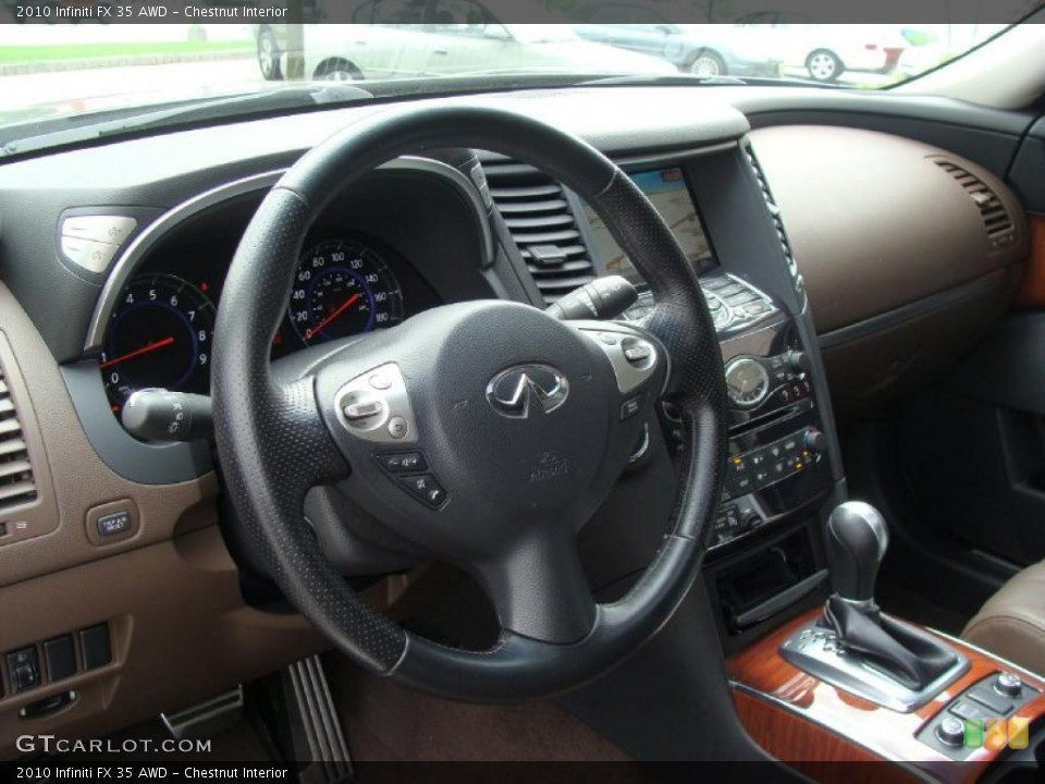 Chestnut Interior Dashboard for the 2010 Infiniti FX 35 AWD #49722964