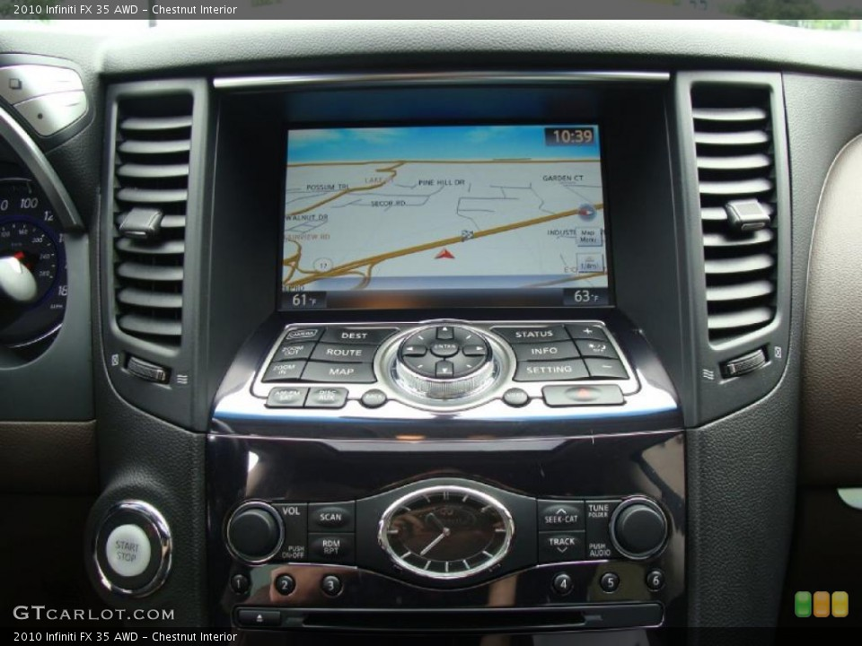 Chestnut Interior Navigation for the 2010 Infiniti FX 35 AWD #49722979