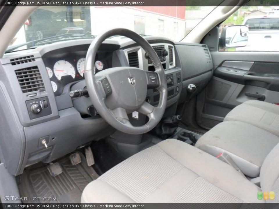 Medium Slate Gray Interior Prime Interior for the 2008 Dodge Ram 3500 SLT Regular Cab 4x4 Chassis #49753777