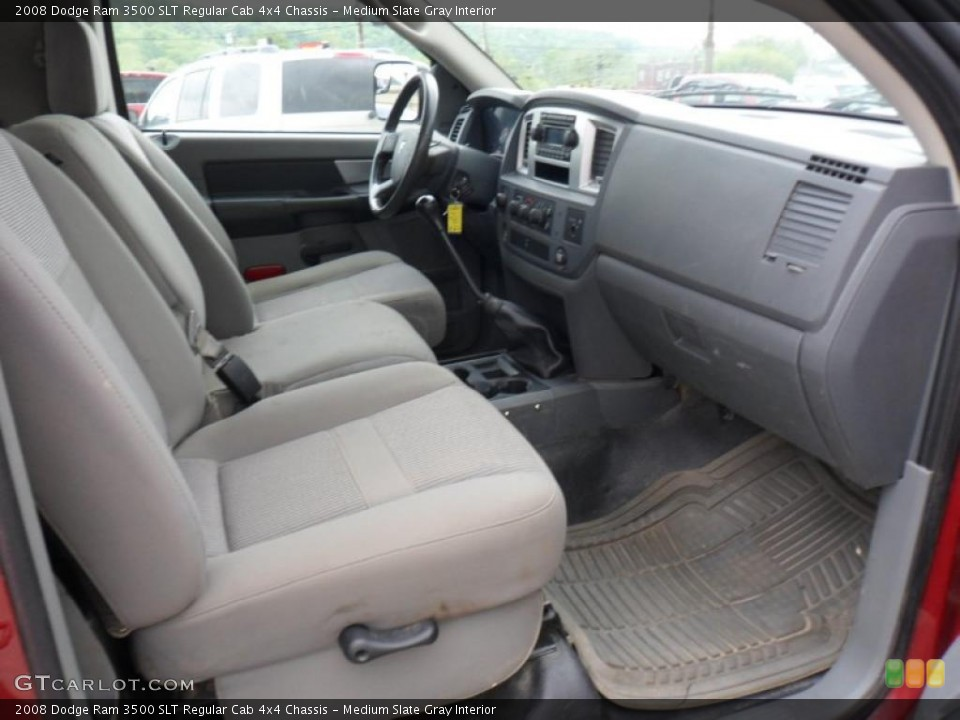Medium Slate Gray Interior Photo for the 2008 Dodge Ram 3500 SLT Regular Cab 4x4 Chassis #49753843