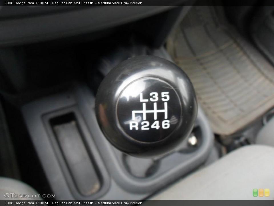 Medium Slate Gray Interior Transmission for the 2008 Dodge Ram 3500 SLT Regular Cab 4x4 Chassis #49753903