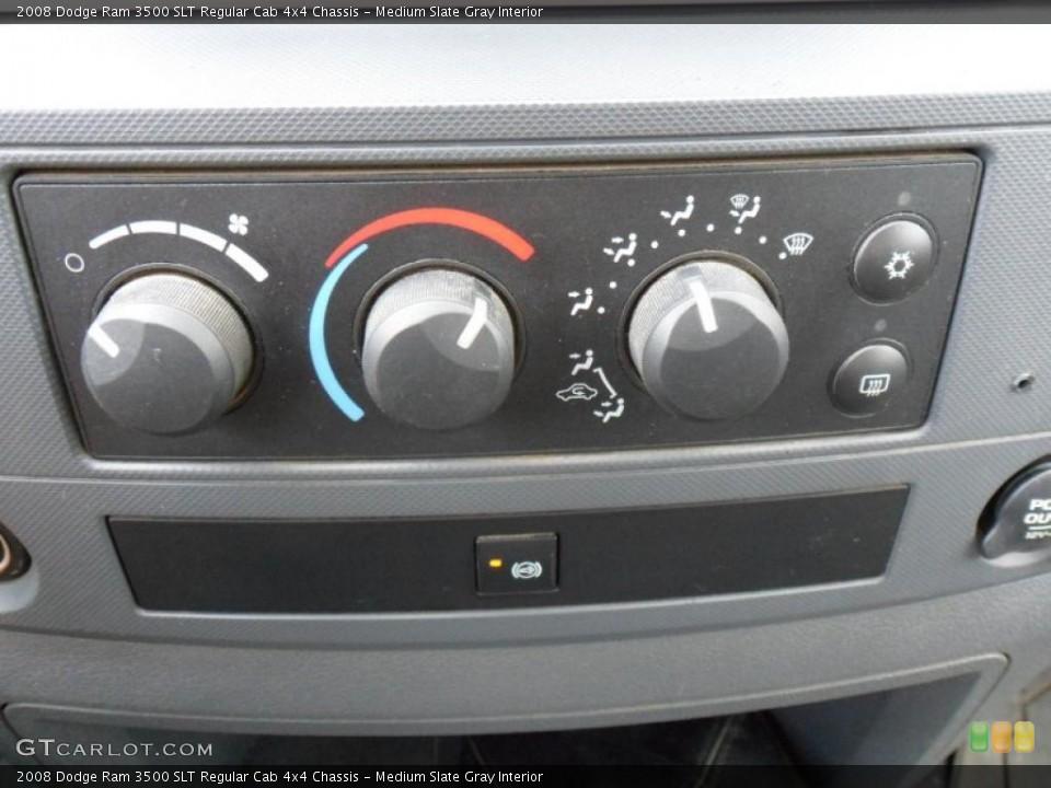 Medium Slate Gray Interior Controls for the 2008 Dodge Ram 3500 SLT Regular Cab 4x4 Chassis #49753930