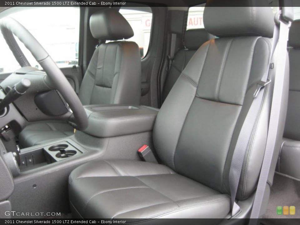 Ebony Interior Photo for the 2011 Chevrolet Silverado 1500 LTZ Extended Cab #49801203