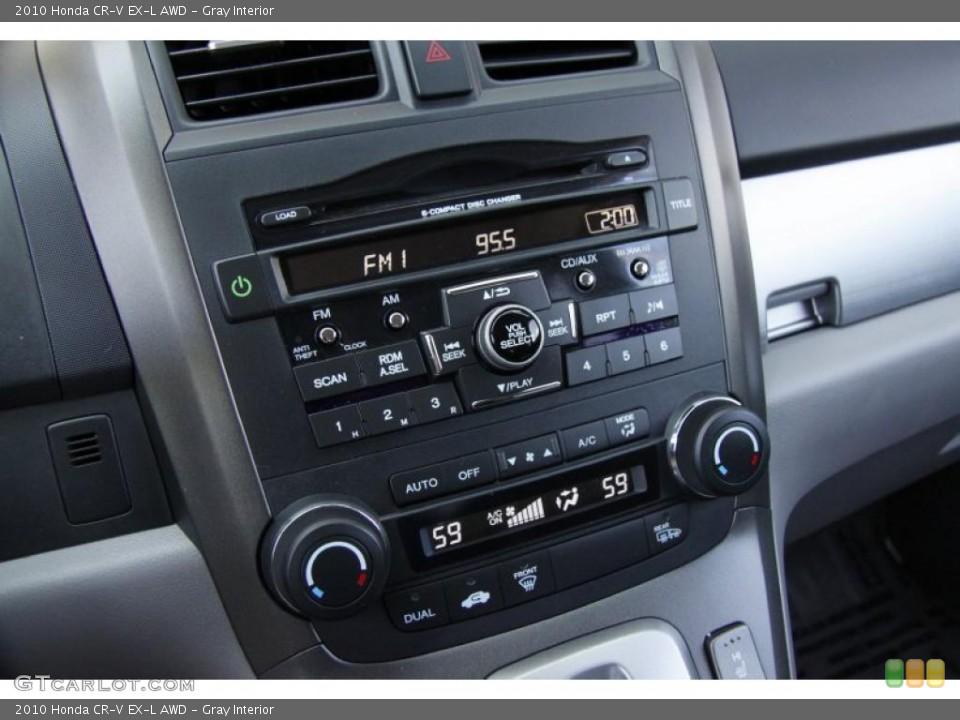 Gray Interior Controls for the 2010 Honda CR-V EX-L AWD #49805742