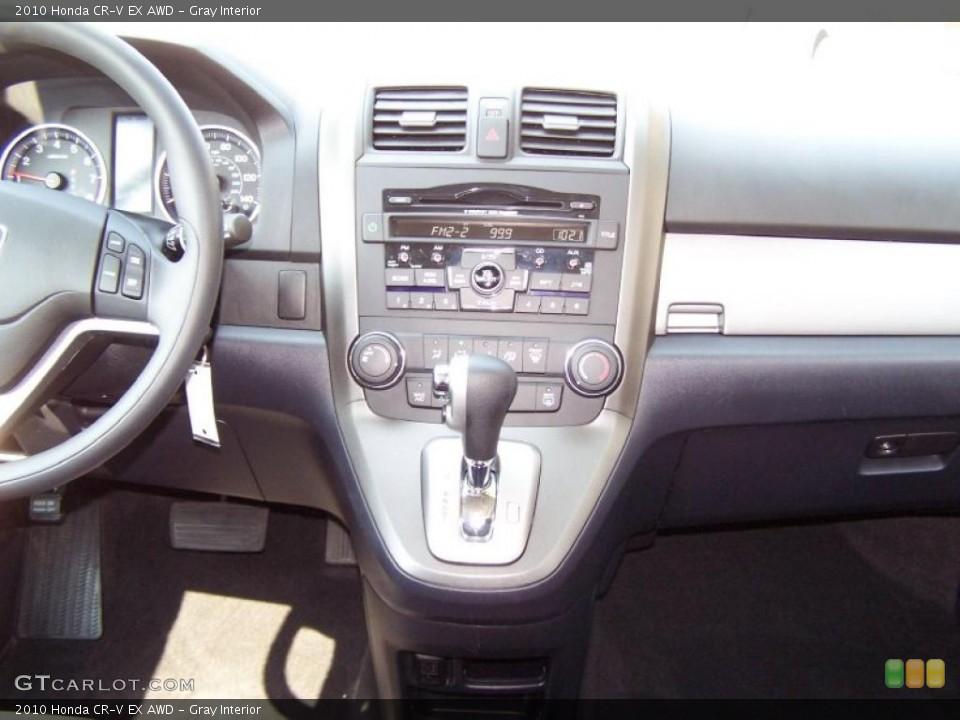 Gray Interior Controls for the 2010 Honda CR-V EX AWD #49833435