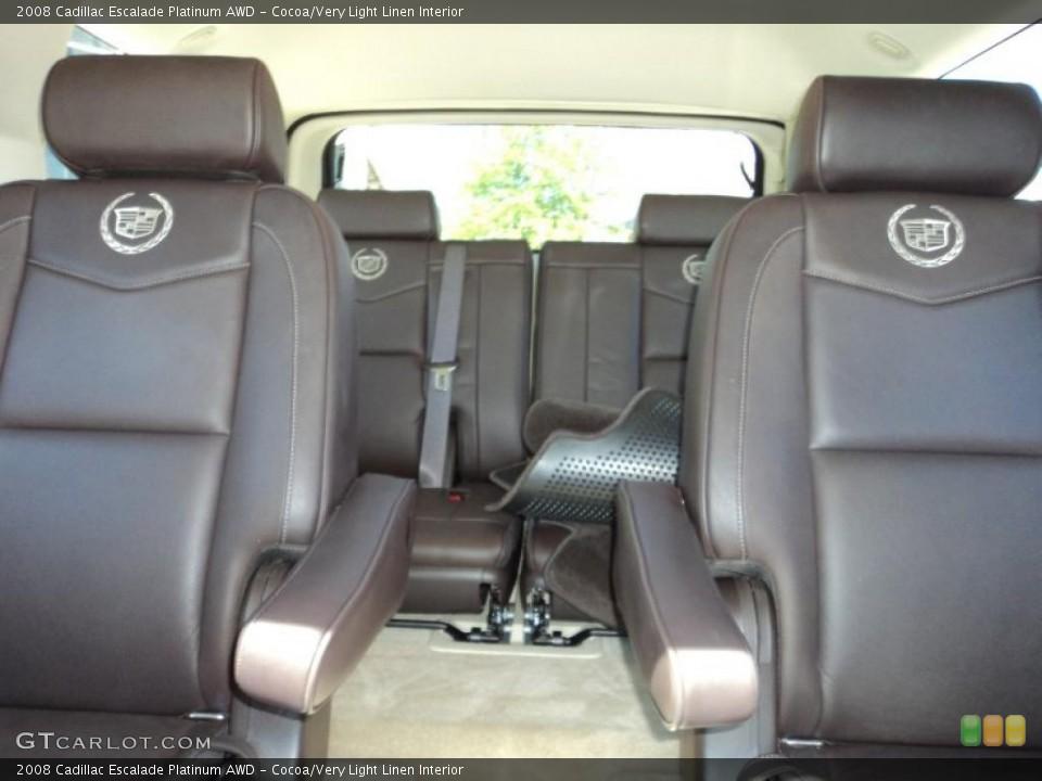 Cocoa/Very Light Linen Interior Photo for the 2008 Cadillac Escalade Platinum AWD #49860878