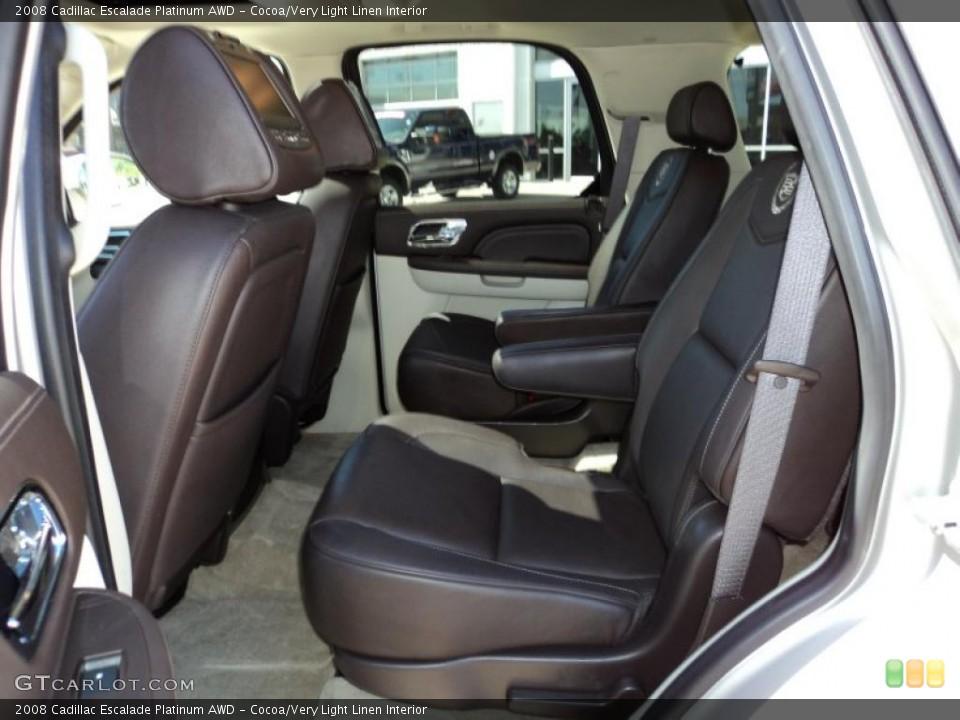 Cocoa/Very Light Linen Interior Photo for the 2008 Cadillac Escalade Platinum AWD #49860911