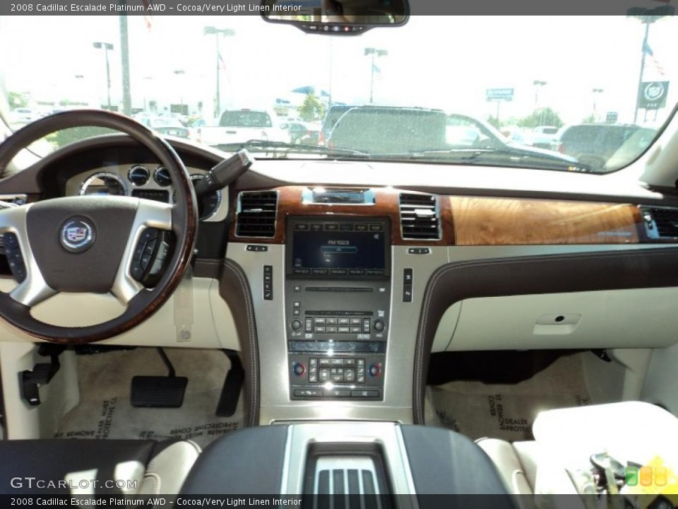 Cocoa/Very Light Linen Interior Dashboard for the 2008 Cadillac Escalade Platinum AWD #49860953