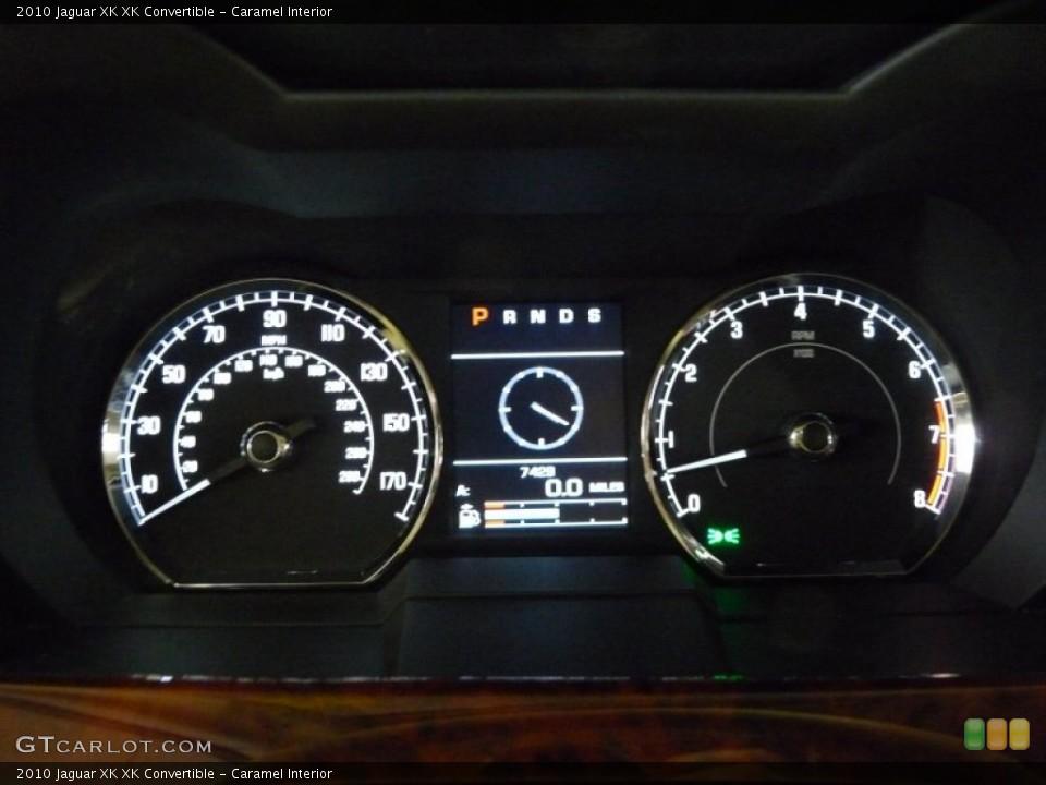 Caramel Interior Gauges for the 2010 Jaguar XK XK Convertible #49932449