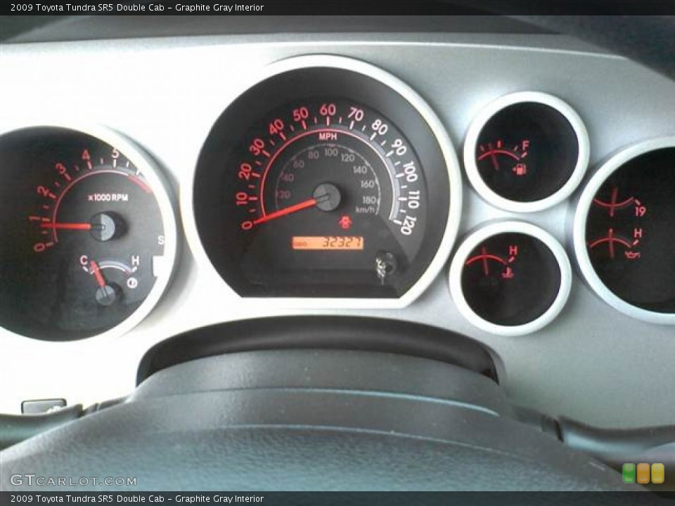 Graphite Gray Interior Gauges for the 2009 Toyota Tundra SR5 Double Cab #49953506