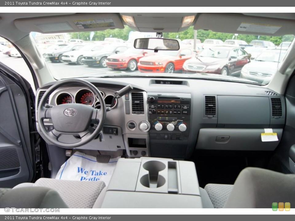 Graphite Gray Interior Dashboard for the 2011 Toyota Tundra CrewMax 4x4 #49969095