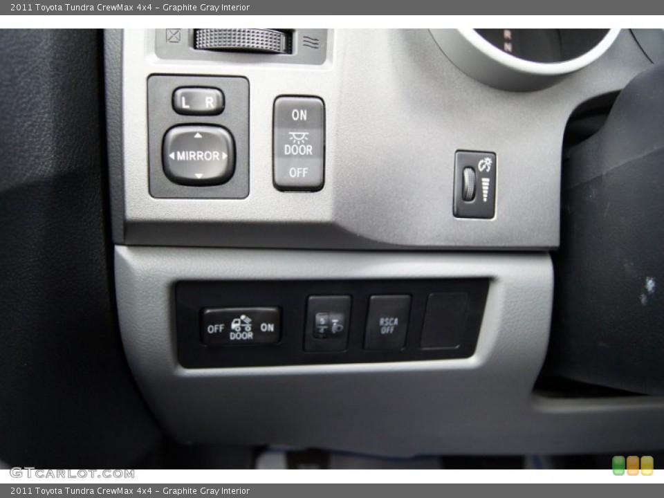 Graphite Gray Interior Controls for the 2011 Toyota Tundra CrewMax 4x4 #49969272