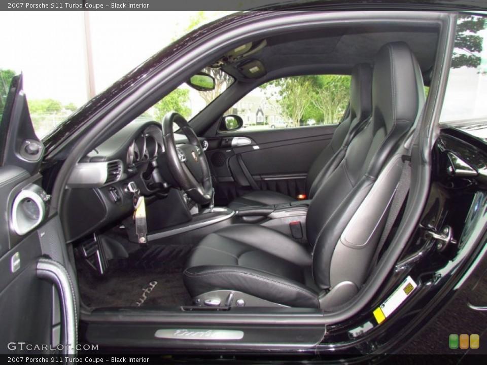 Black Interior Photo for the 2007 Porsche 911 Turbo Coupe #49997854
