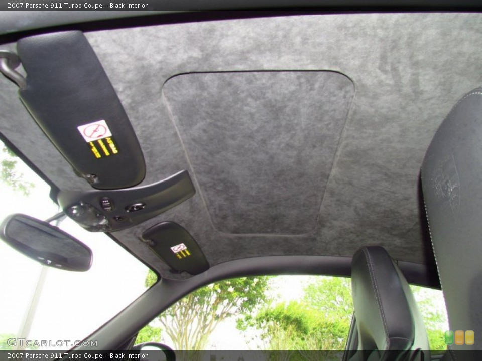 Black Interior Sunroof for the 2007 Porsche 911 Turbo Coupe #49998091