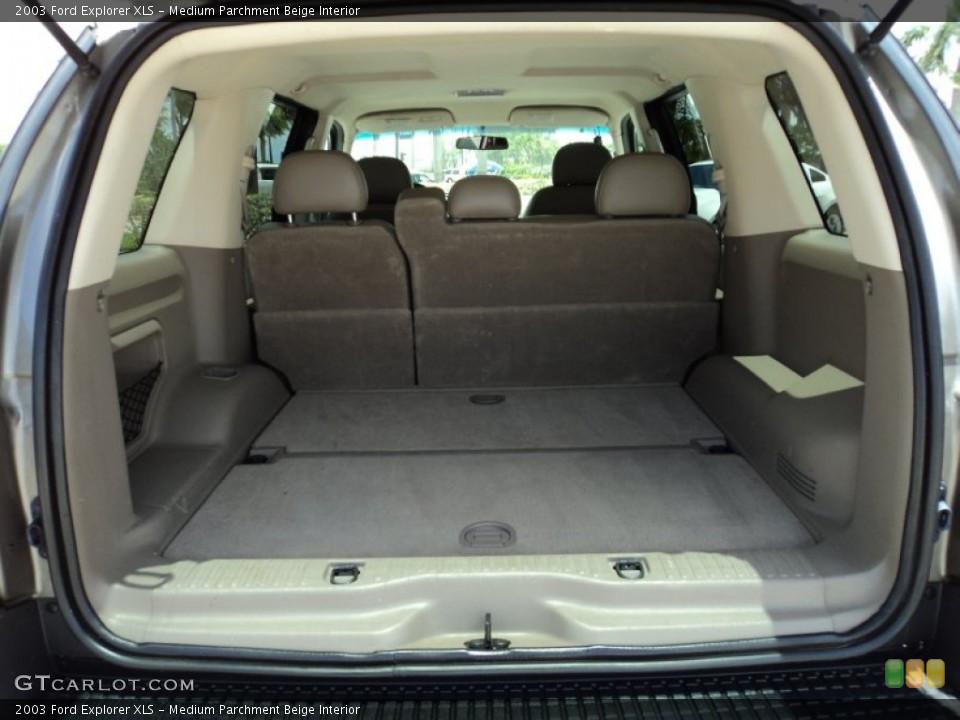 Medium Parchment Beige Interior Trunk for the 2003 Ford Explorer XLS #50002204
