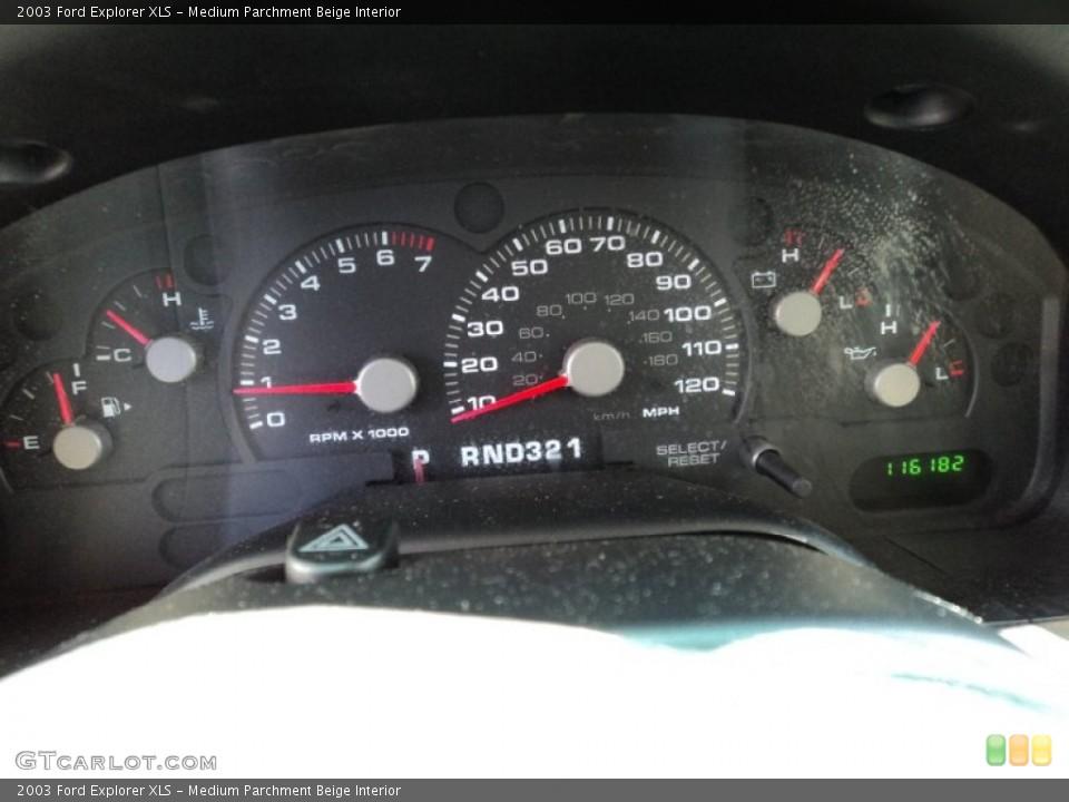 Medium Parchment Beige Interior Gauges for the 2003 Ford Explorer XLS #50002519