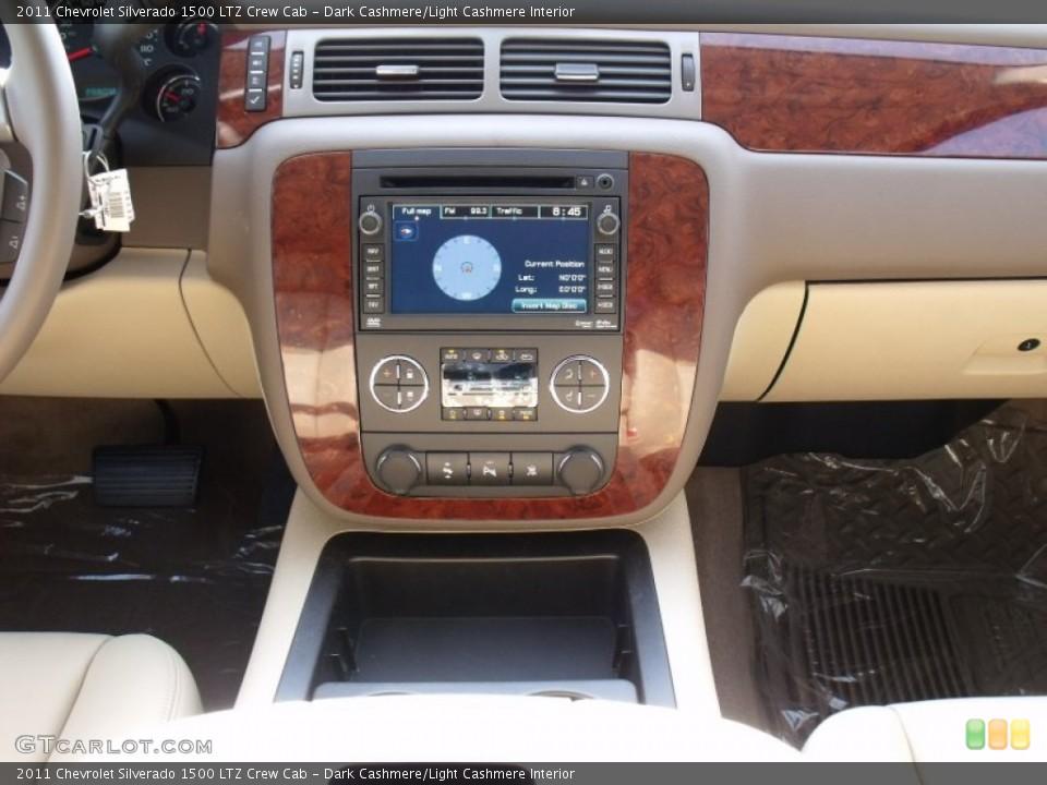 Dark Cashmere/Light Cashmere Interior Controls for the 2011 Chevrolet Silverado 1500 LTZ Crew Cab #50023702