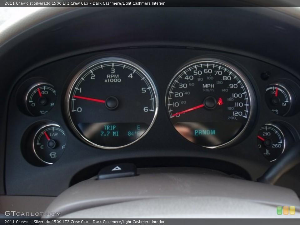 Dark Cashmere/Light Cashmere Interior Gauges for the 2011 Chevrolet Silverado 1500 LTZ Crew Cab #50023753