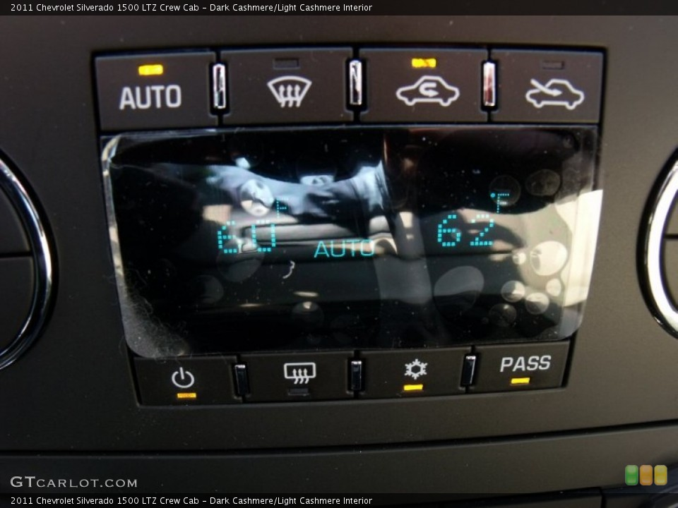 Dark Cashmere/Light Cashmere Interior Controls for the 2011 Chevrolet Silverado 1500 LTZ Crew Cab #50023780